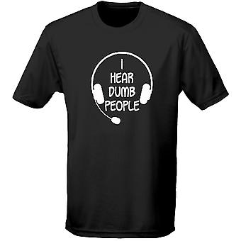 I Hear Dumb People Mens T-Shirt 10 Colours (S-3XL) by swagwear