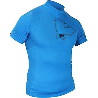 Performer Short Sleeve Running Top/T-Shirt Breathable With Pockets Electric Blue