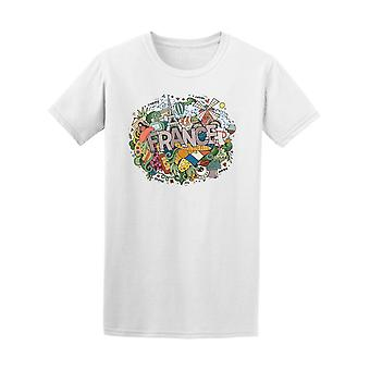 France Country Paris Doodle Tee Men's -Image by Shutterstock