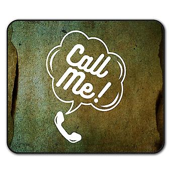 Call Me Funny Ring Slogan  Non-Slip Mouse Mat Pad 24cm x 20cm | Wellcoda