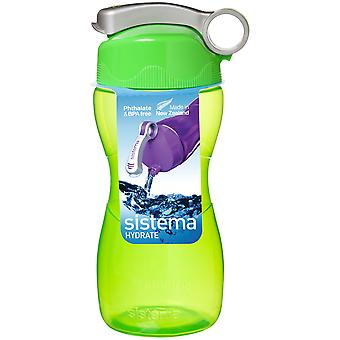 Sistema Hourglass Drink Bottle 475ml, Green