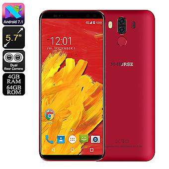 Pure 3 Android Phone - Android 7.0, Octa Core Helio Chipset, 4GB RAM, 4G, 5.7 Inch Screen, 4000mAh Battery (Red)