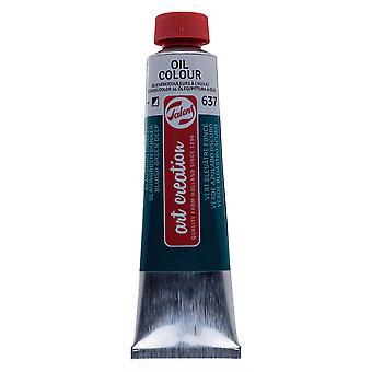 Talens arte creazione olio colore 40ml - 637 profondo verde bluastro