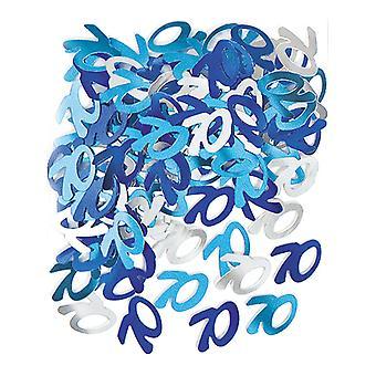 Birthday Glitz Blue - 70th Birthday Confetti