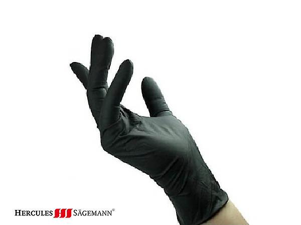 Hercules Sagemann Black Touch Latex Gloves Large 10 Pcs
