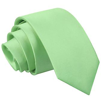 Plaine de vert lime Satin régulier cravate pour les garçons