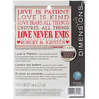 Love Is Patient Mini Counted Cross Stitch Kit-7