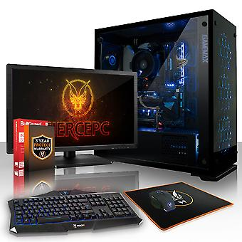Fierce GUARDIAN Gaming PC, Fast AMD Ryzen 5 1600X 4GHz, 1TB HDD, 16GB RAM, GTX 1050 2GB