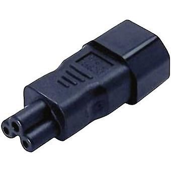 Enchufe de alimentación IEC C14 - C5 Mickey Mouse conector número de pines: 2 + PE negro 1 PC