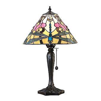 Interiors 1900 Ashton Pink Lilly & Libelle Tiffany Nachttisch Lampe