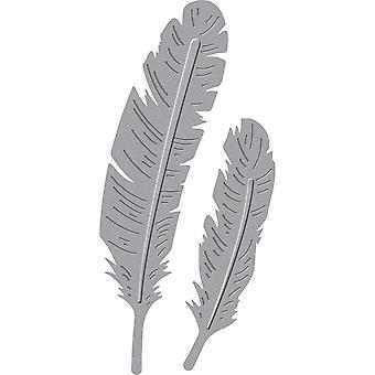 Spellbinders Shapeabilities Die D-Lites-Two Feathers