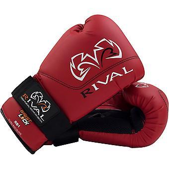 Rivale guanti boxe RB1 Hook e Loop borsa Ultra - rosso