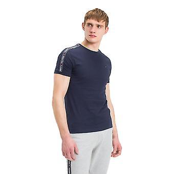 Camiseta de cuello redondo de Tommy Hilfiger-Marina de guerra