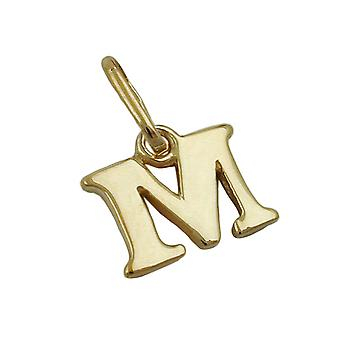 Chain letter M shiny 9Kt GOLD