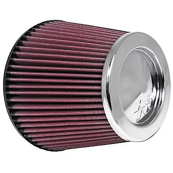 K&N RF-1043 Universal Clamp-On Air Filter: Round Tapered; 6 in (152 mm) Flange ID; 6 in (152 mm) Height; 7.5 in (191 mm)