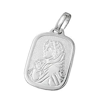 Religious medal mother mary silver 925