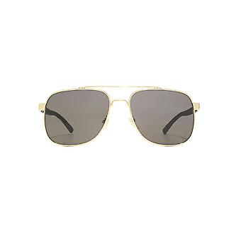 Gucci Square Pilot Sunglasses In Gold