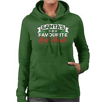 Santas favoriete roodharige Christmas vrouwen Hooded Sweatshirt