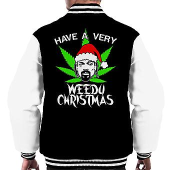 Snoop Dogg Weedu Christmas Men's Varsity Jacket