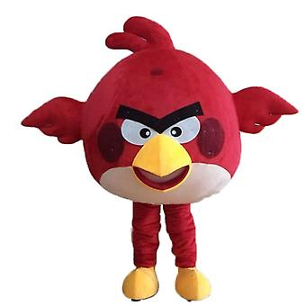 mascot SPOTSOUND of red bird, the famous game Angry birds