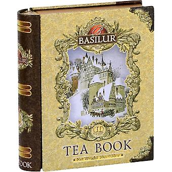 Basilur Tea Mini Tea Book Volume Ii (Gold) 5 Pyramid Bags In Metal Tin Caddy 10G