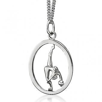 Sølv vedhæng» gymnast med bolden»