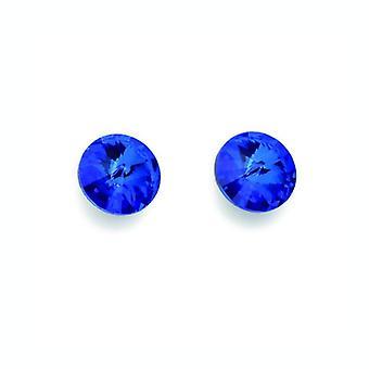 Oliver Weber Post Earring 001 Sapphire