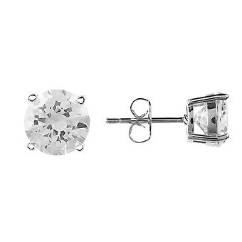 Latelita Solitaire Stud Earrings Small Silver Bridal Wedding Bridesmaid Gift CZ