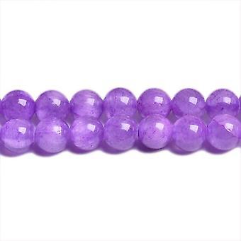 Programdel 45 + Violetta Mashan Jade 8mm vanlig runda pärlor CB31424-3