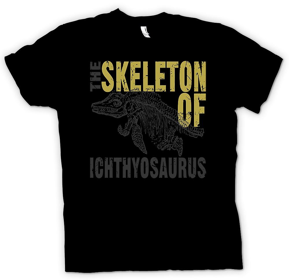 Kids T-shirt - The Skelton Of Ichthyosaurus