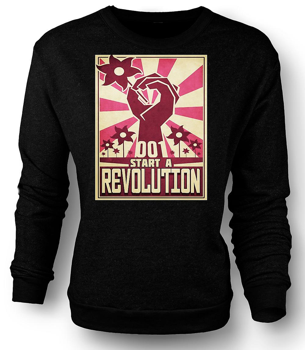 Mens Sweatshirt Start A Revolution - Cool Design