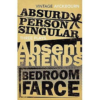 Drie speelt - Absurd persoon enkelvoud, afwezige vrienden, slaapkamer Farce
