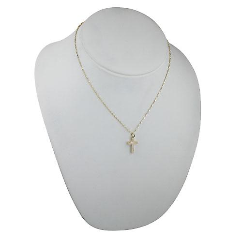 9ct Gold 20x12mm hand engraved solid block Cross with a belcher Chain 18 inches
