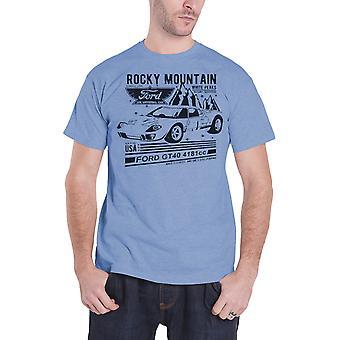 T-Shirt van Ford GT40 Rocky Mountain nieuwe officiële Mens Blue
