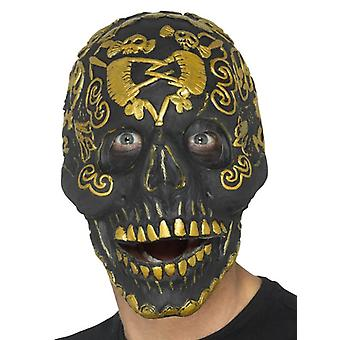 Mens Deluxe Masquerade Skull Mask Halloween Fancy Dress Accessory