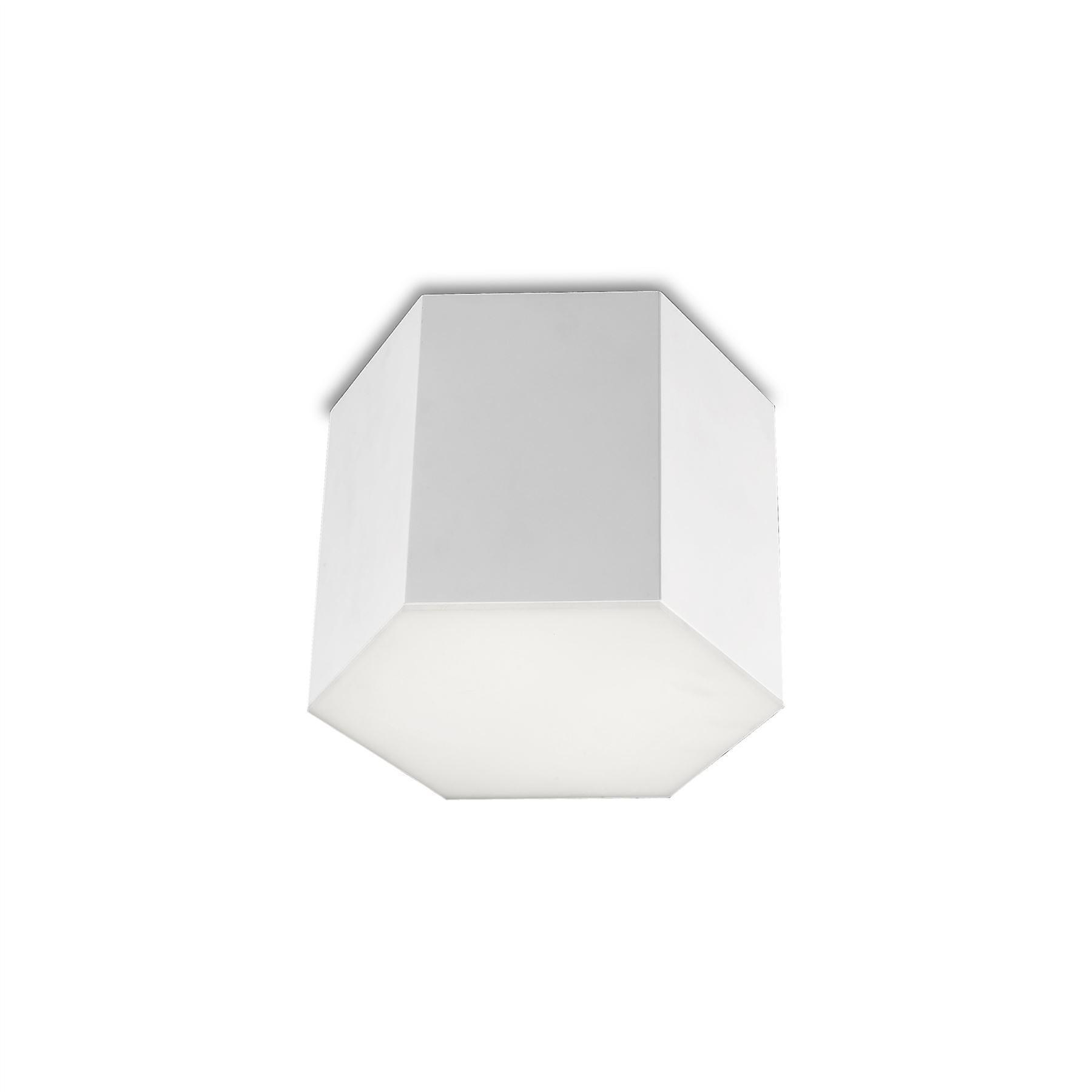 Six Deep blanc Flush LED Ceiling Light - Grok 15-1959-BW-M1