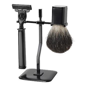 FMG 3 Piece Shaving Set Square Mach3 - Black