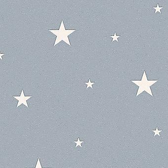Resplandor en el oscuridad estrellas planetas cósmica papel pintado con textura como creación gris/blanco