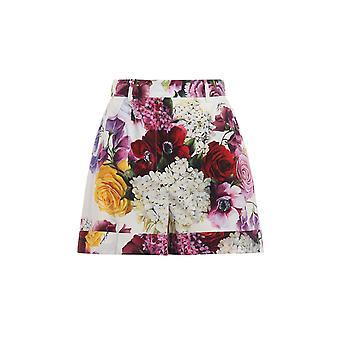Dolce E Gabbana Multicolor Silk Shorts