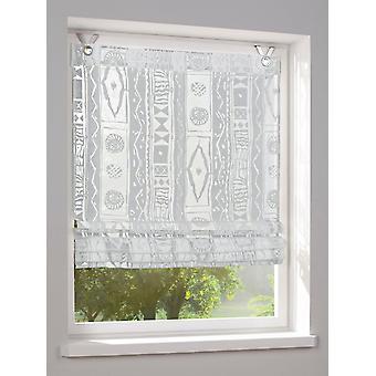 Heine home Roman shade printed Burnout eyelet H/W white 140 x 120 cm