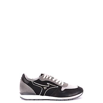 Mizuno Grey/black Leather Sneakers