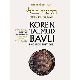 Koren Talmud Bavli - Bava Batra Part 2 - English - v. 28 by Rabbi Adin