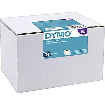 DYMO S0722390 Label roll 89 x 36 mm Paper White 6240 pc(s) Permanent Address labels