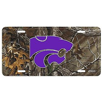 Kansas State Wildcats NCAA Camo License Plate