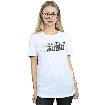 Marvel Women es Avengers Endspiel I Love You 3000 Helmet Boyfriend Fit T-Shirt