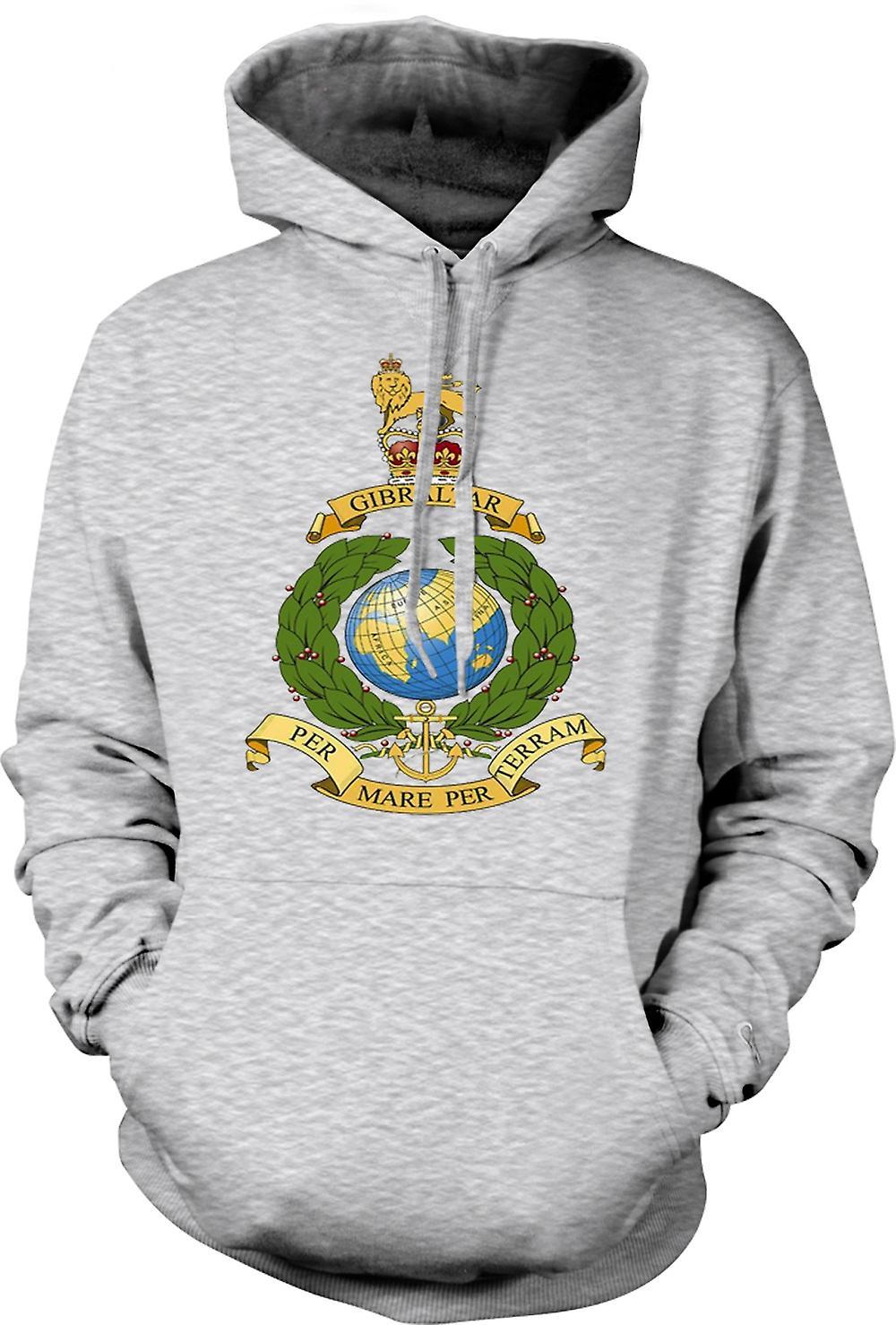 Para hombre con capucha - logotipo Marina Real - por yegua por Terram