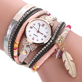 Feather Wrap Watches-Black