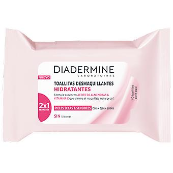 Diadermine Face and Eye Make-up Remover Wipes 40 Units