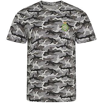 Sherwood Rangers Yeomanry - Licensed British Army Embroidered Camouflage Print T-Shirt