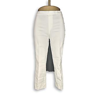Isaac Mizrahi Live! Women's Pants 24/7 Stretch Regular White A251351